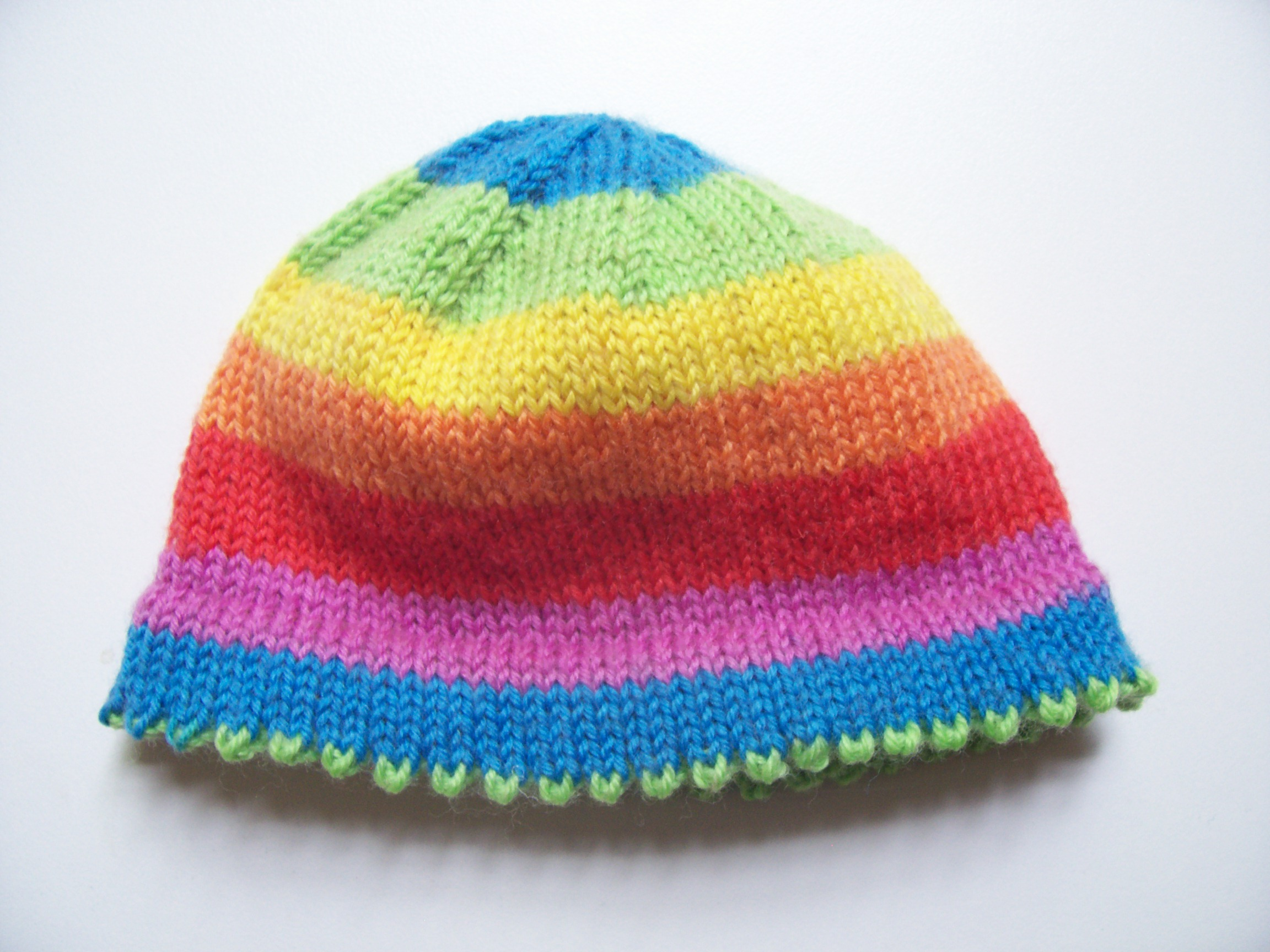 Picot-Hem Preemie Hat