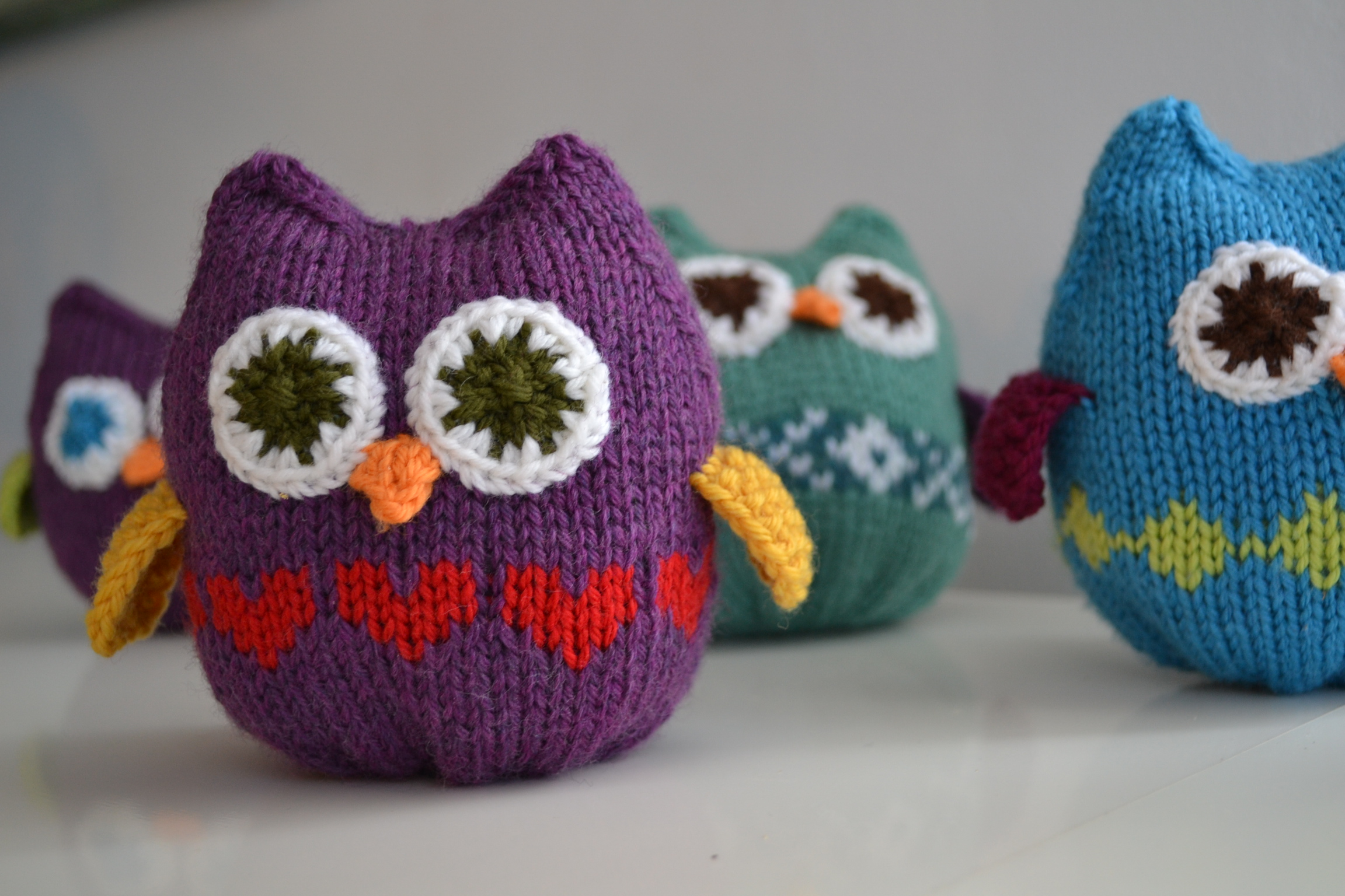 Free Knitting Patterns For Head Wraps : Squish Owls Pattern - aknitica