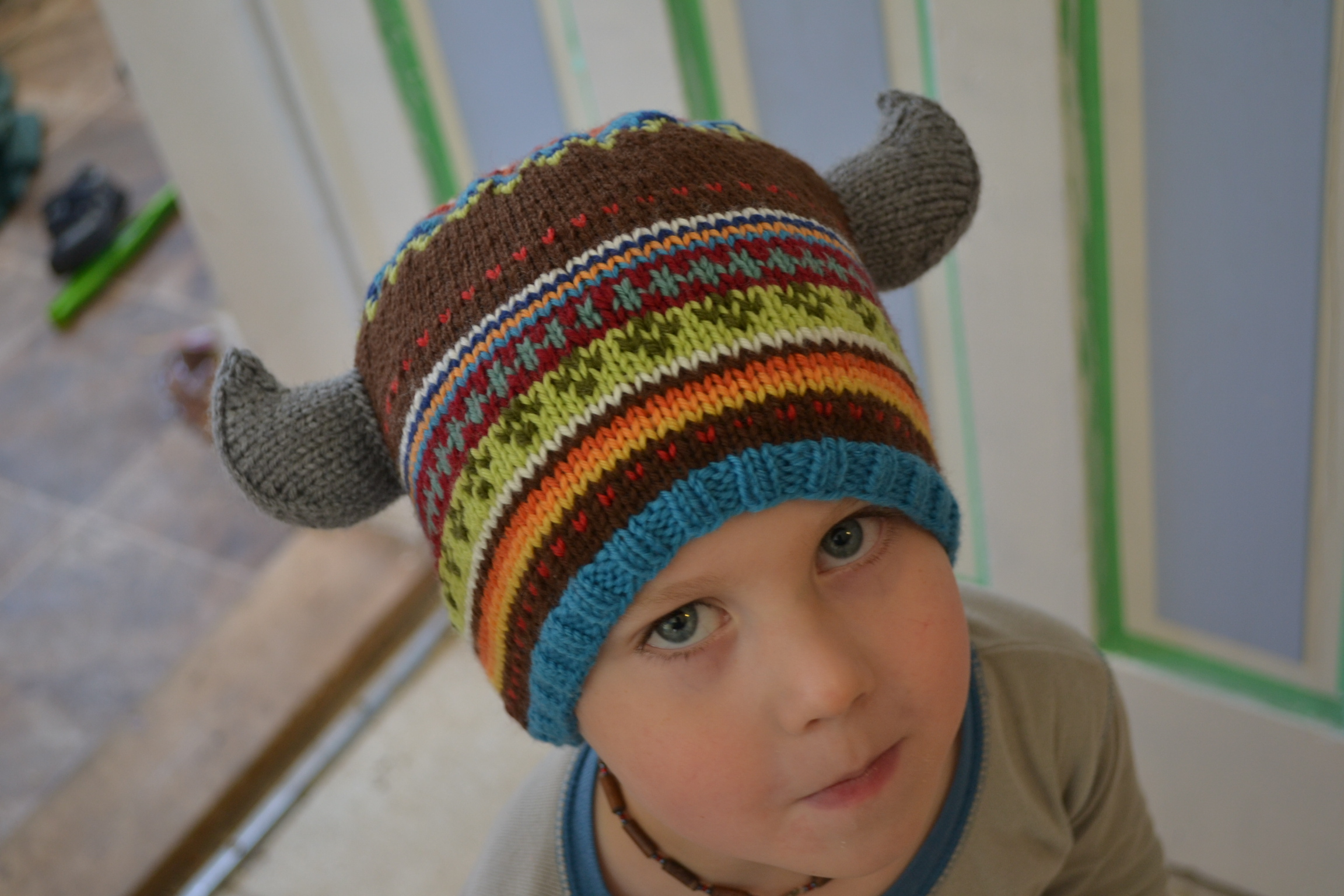 Viking Hat Knitting Pattern Free : Viking Horns Pattern - aknitica