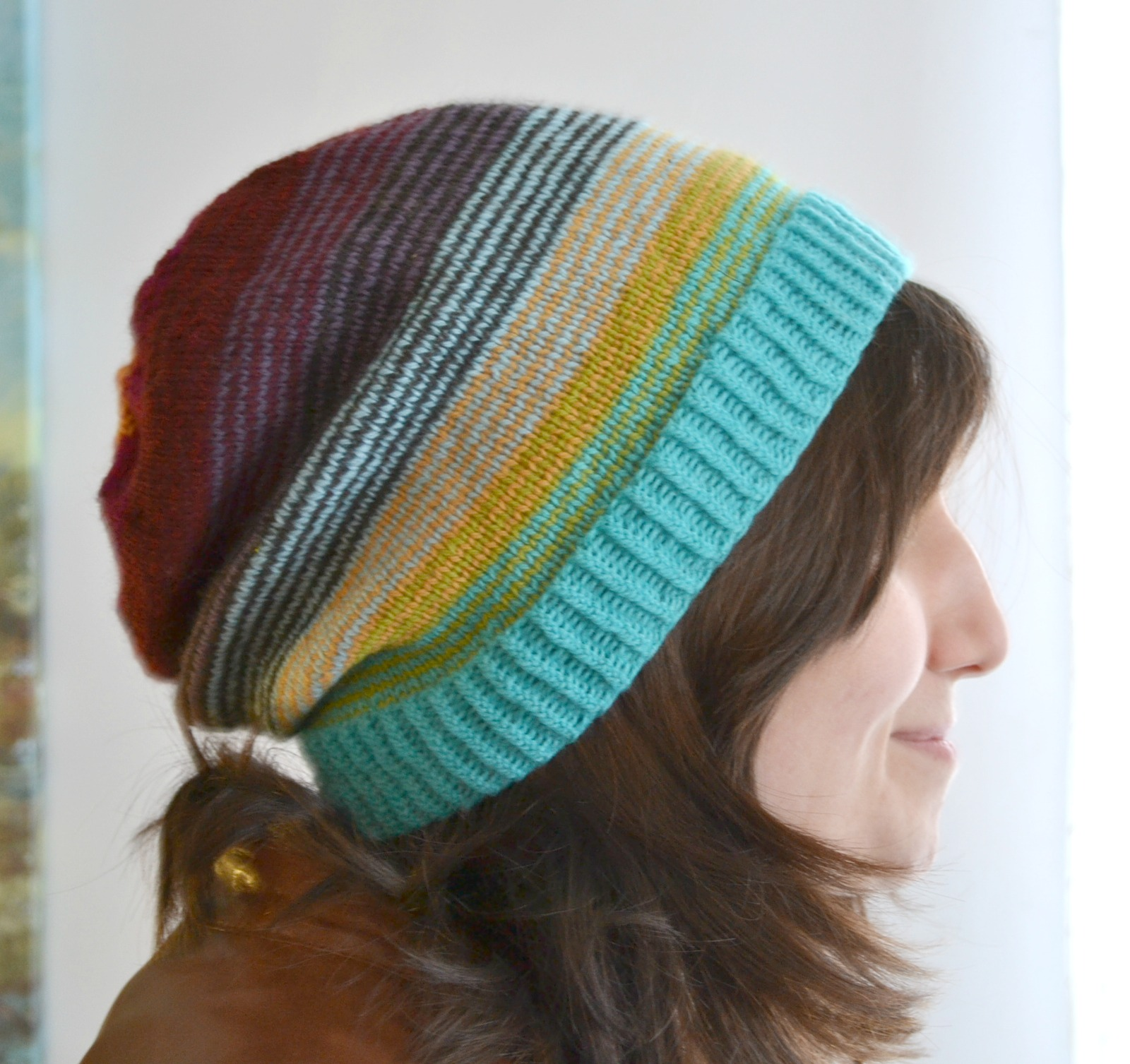Slouch Socks Knitting Pattern : Sock Stashbuster Slouchy Hat - aknitica