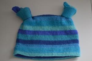 Knotty Baby Hat.  Pattern by Amanda Schwabe.  Aknitica Designs.