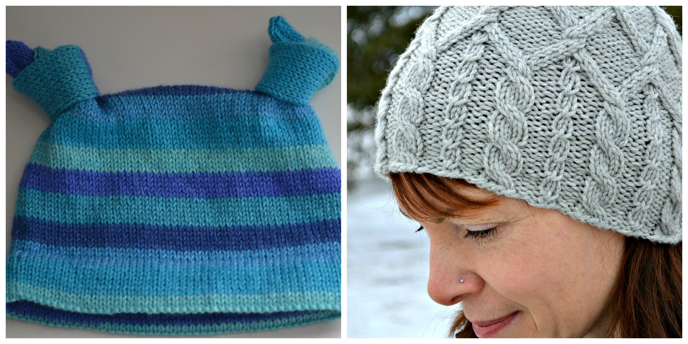 Knitting Knotty : Knotty baby hat and merrick cabled are now on knit