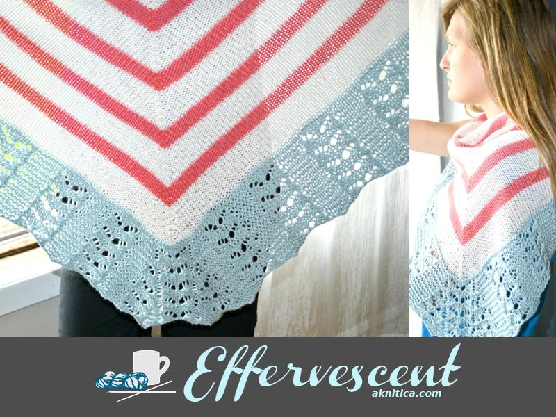 Effervescent shawl pattern by Amanda Schwabe. aknitica.com
