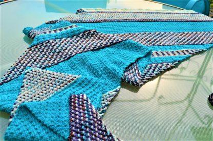 Mosaica shawl pattern by Amanda Schwabe